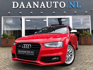 Audi S4 Avant kopen rood RS4 weinig km nieuwstaat leder leer alcantara 3.0 V6 TFSI quattro Pro Line | Bang & Olufsen | Elektr. Verst. & Verwarm. Stoelen | Navi Plus | Unieke KM Stand Daanauto.nl Daanauto