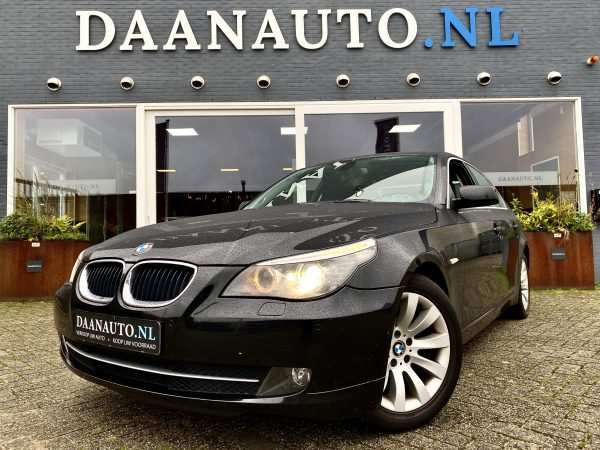 BMW 520i E60 5 serie 5-serie LCI high executive m sport m pakket zwart te koop kopen Daanauto Daan auto Amsterdam occasion Heemskerk