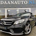 Mercedes Benz c klasse c-klasse C180 c 180 zwart leer occasion AMG pakket te koop kopen Amsterdam heemskerk occasion daanauto daan auto