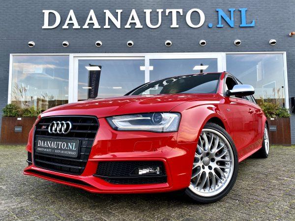 Audi A4 S4 RS4 Avant kopen te koop rood leder leer alcantara 3.0 V6 quattro weinig km Amsterdam Daanauto