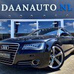 Audi A8 4.0 TFSI quattro Lang Pro Line a8l zwart luxe sedan te koop kopen Amsterdam heemskerk Daanauto Daan auto full Option