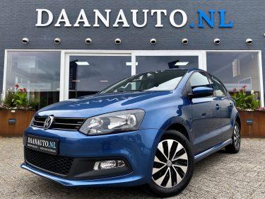 Volkswagen Polo 1.0 Automaat blauw 5 deurs te koop kopen heemskerk beverwijk Amsterdam navigatie apple CarPlay