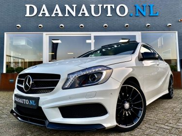 Mercedes-Benz A180 a klasse AMG pakket Exclusief Night wit full option panoramadak prestige te koop kopen occasion comand