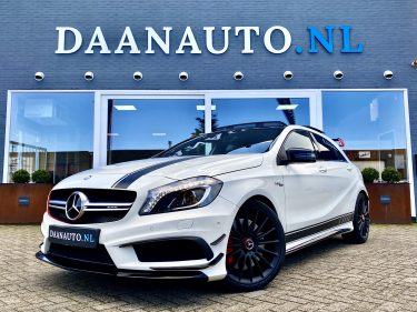 Mercedes-Benz A45 a klasse AMG 4Matic Edition 1 spoiler AMG Drivers Package performance te koop kopen occasion Amsterdam beverwijk