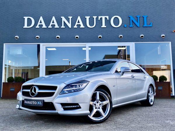Mercedes-Benz CLS 350 AMG zilver grijs luchtvering panoramadak occasion te koop kopen Amsterdam heemskerk beverwijk