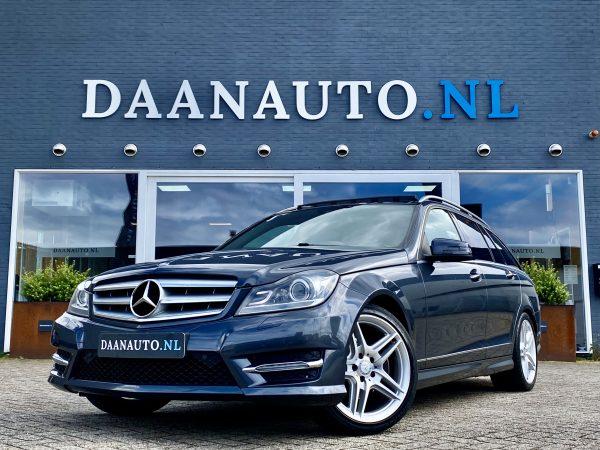 Mercedes-Benz c klasse stationwagon C200 Estate AMG grijs occasion te koop kopen Amsterdam heemskerk beverwijk
